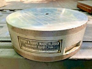 Brown Sharpe 9 1 4 Round Permanent On off Magnetic Chuck Surface Tool Grinder