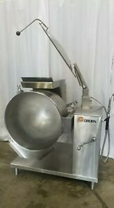 Groen Dh 1p 40 Natural Gas Jacketed Steam Tilting Kettle 40 Gallons