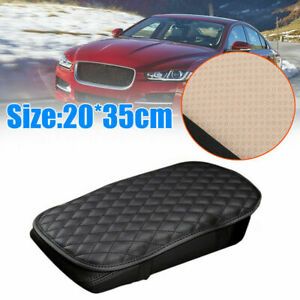 Armrest Cushion Cover Center Console Box Pad Protector Leather Car Accessories