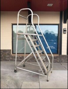 Heavy Duty 2ft Wide Steps 7 Step Loft Style Warehouse Ladder pick Up In Nc