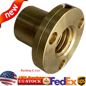 Z axis Milling Machine Parts 53mm Bushing Screw Copper Brass Nut Tools Height