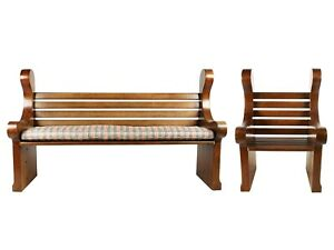 Carved Wood Bench Armchair By Raymond Enkeboll