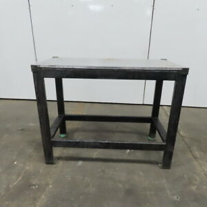 3 4 Thick Aluminum Top Steel Fabrication Welding Table Work Bench 47 lx23 wx37h