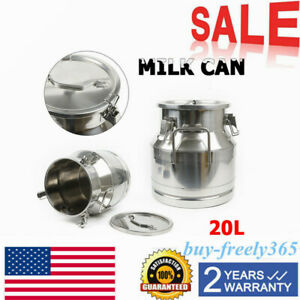 20 L 5 25 Gallon Stainless Steel Milk Can Wine Pail Bucket Tote Jug Equipment