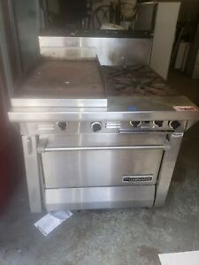 Garland M42r Gas Heavy Duty Commercial Combination Top Range Stove oven griddl