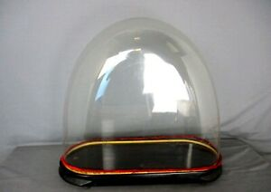 Antique Victorian Oval Hand Blown Glass Globe Dome Doll Clock 17 91 H 20 86