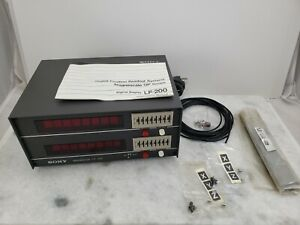 Sony Lf200 Lf 200 Magnescale 2 axis Dro Unused Cond Readout Only No Scales
