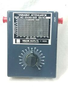 Wilcox Variable Attenuator 1 10 Db 10 100 Dial Position