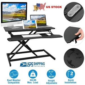 Height Adjustable Standing Desk Monitor Home Office Workstation Portable Table