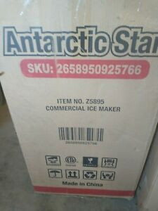 Antarctic Star Commercial Ice Maker In Stainless Steel 200 Lbs Of Ice Per 24 Hrs