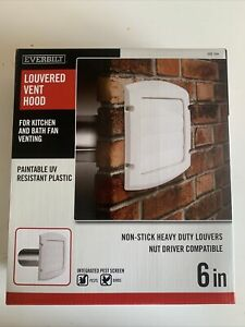 Everbilt Blh6whd Bathroom Fan Venting 6 In Louvered Exhaust Kitchen Hood White