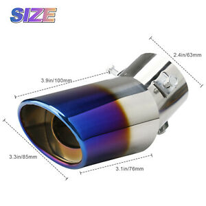Universal Auto Car Exhaust Pipe Tip Rear Muffler Tail Throat Stainless Steel