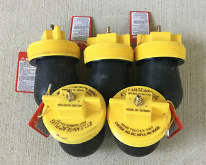 Lot Of 5 Cherne 4 Inch Clean seal Pneumatic Rubber Plug 271721 Test Ball