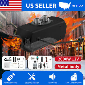 2kw 12v Diesel Air Heater W Remote Control For Rv Vehicle Cars Trucks Boats Bus