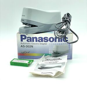 Panasonic As 302n Automatic Electric Stapler W Box Manual Tested