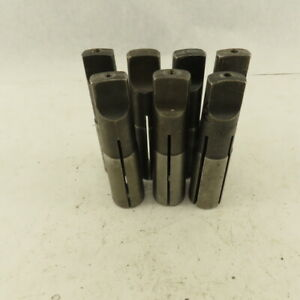 4mt Morse Taper 4 Pipe Tap Collet Mixed Lot Sizes 1 3 4 3 8 1 2 Lot Of 7