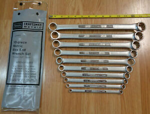 Made In Usa Craftsman Metric Double Box End Wrench Set V Series 10 Pc 4465