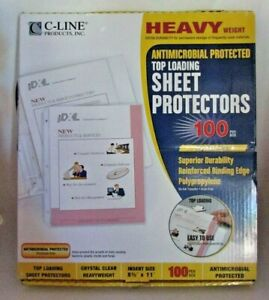 C line Heavy Weight Top Loading Sheet Protectors 8 5 x11 100 pkg clear 62033