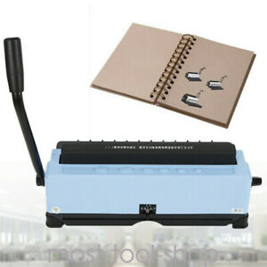 Paper Punching Binding Machine 34 Square Holes 120 Sheet A4 Papers Spiral Coil