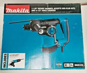 Makita Hr2811fx 1 1 8 Inch Rotary Hammer Drill With Angle Grinder New sealed F s