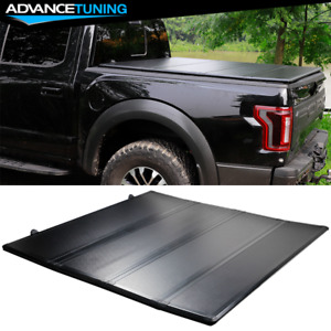 Fits 07 21 Toyota Tundra 5 5 Hard Solid 4 Fold Short Truck Bed Tonneau Cover