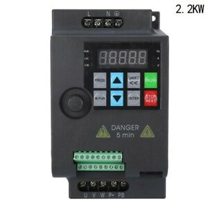 Single To 3 Phase 0 75kw 10hp 220v Variable Frequency Drive Inverter Cnc Vfd Vsd