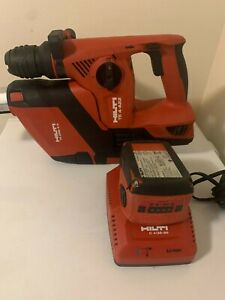 Hilti Te 4 a22 Rotary Hammer Drill W 2 Batteries Charger Dust Collector