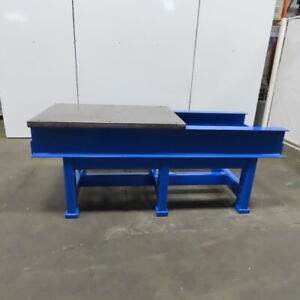 1 5 8 Thick Steel Fabrication Layout Welding Table Work Bench 84 1 2 x35 x34