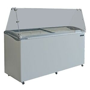 Ojeda Usa 12 Flavor Dip 69 Ice Cream Dipping Cabinet With Slanted Glass