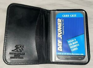 Day Runner Black Faux Leather 8ct Business Card 2x3 photo Holder 870 60 New