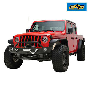 Eag Replacement Front Bumper Heavy Duty W D Ring Fit For 20 21 Jeep Gladiator