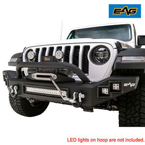 Eag Front Led Bumper Heavy Duty Black With D Ring Fit For 20 21 Jeep Gladiator