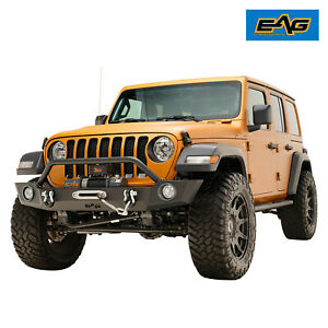 Eag Replacement Front Bumper Heavy Duty W D Ring Fit For 18 21 Jeep Jl Wrangler