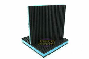 2 Pack Anti Vibration Pads Isolation Dampener Industrial Heavy Duty 6x6x7 8 Blue
