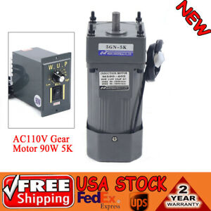 90w Gear Motor Electric Variable Speed Controller Torque Large 1 5 270rpm 110v