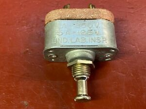 1920s 1930s Vintage Push Pull On Off Dash Switch Made In The Usa