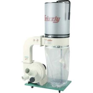 Grizzly G0548zp 2 Hp Canister Dust Collector With Aluminum Impeller Polar B