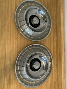 1963 63 Ford Thunderbird T Bird Hubcaps Wheel Covers Oem Ford Nice Set Of 2