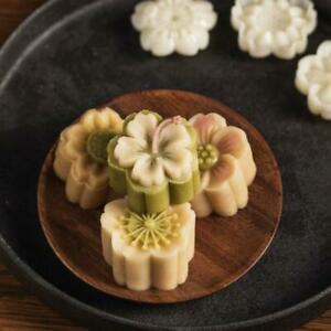 Hand Pressure Moon Cake Mould Flower Cake Moon Stamp Blossom Cherry Pastry Tool $8.55