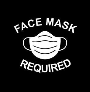 Face Mask Required Sign Vinyl Sticker Decal Business Window