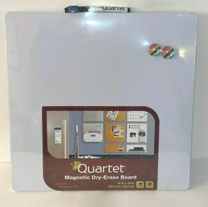 Four Quartet Magnetic Whiteboard14 X 14 Dry Erase Board W marker 2 Magnets New