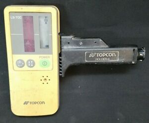 Topcon Ls 70c Rotary Laser Receiver With Rod Mount 81