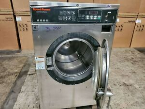 Speed Queen Front Load Washer Coin Op 40lb 208 240v M n Sc40nc2op60001 ref