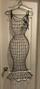 Hanging Metal Wire Dress Form Mannequin Store Display Decorative Vintage Style