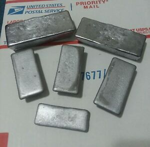 8 lbs Cleaned Soft amp; Hard Lead Ingots FREE SHIPPING $24.50