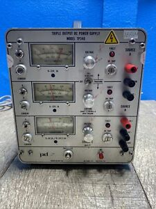 Power Designs Tp340 Triple Output Dc Power Supply Tested Good