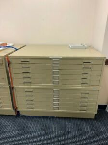 Safco 10 Drawer Combined Metal Flat File Cabinets tropic Sand