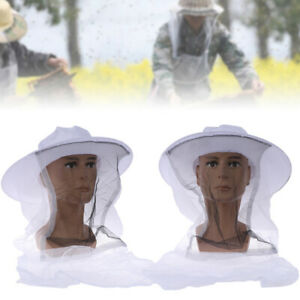 Beekeeping Fishing Cowboy Hat Mosquito Bee Insect Net Cap Face Head Protc_dr