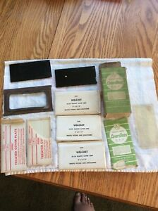Welding Hat Helmet Vintage Glass Plastic Cover Lens Mixed Lot With Box
