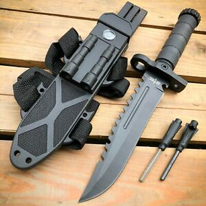12.5quot; MILITARY Hunting TACTICAL FIXED BLADE SURVIVAL Army Knife w Fire Starter $15.95